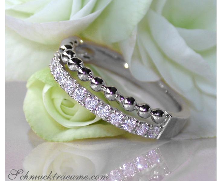 Beautiful Diamond Band (Ball Style)