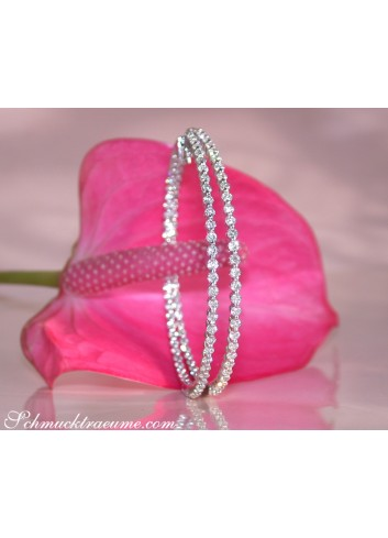 Gorgeously Huge Diamond Hoop Earrings (Ø 5,5 cm)