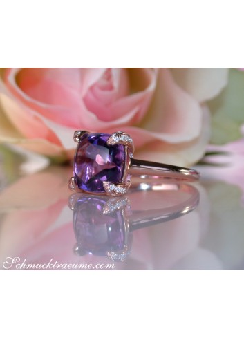 Enchanting Amethyst Ring with Diamonds