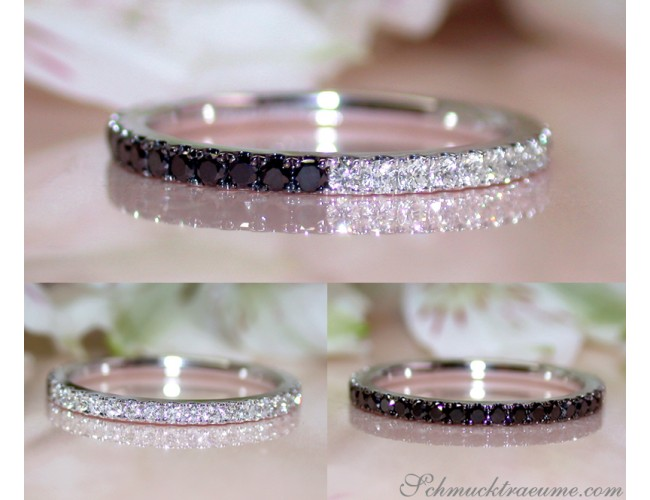 Convertible Black and White Diamond Eternity Ring