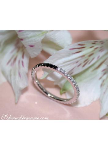 Convertible Black and White Diamond Eternity Ring