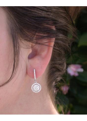 Enchanting Diamond Earrings in Whitegold 18k