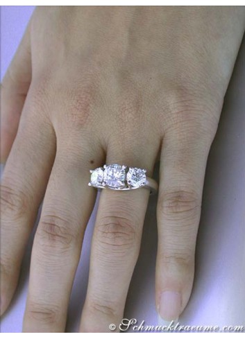 Tremendous Three Solitaire Diamond Ring