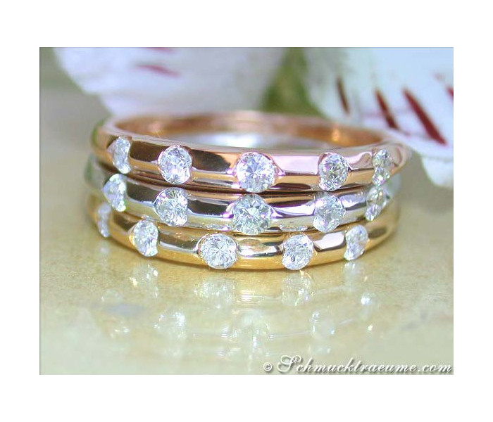 Three exquisite diamonds rings