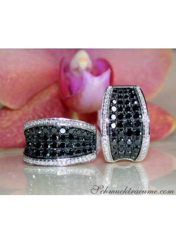Timeless Black Diamond Earrings