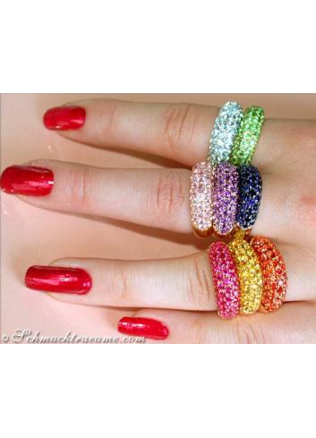 Precious Tsavorite Pavé Ring