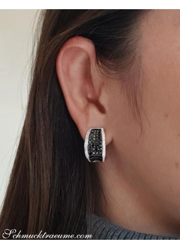 Zeitlose Ohrringe mit schwarzen Diamanten