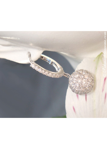 Precious Diamond Pavé Ball Earrings