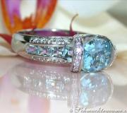 Extravaganter Aquamarin Ring mit Brillanten image