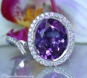 Interessanter Amethyst Brillanten Ring image