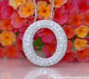 Elegant Diamond Circle Pendant image