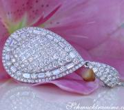 Superb Pear Pendant with Brilliant, Princess and Baguette Diamonds image
