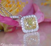 Precious Yellow Diamond Solitaire Pendant image