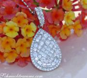 Unique Pear Pendant with Brilliant, Princess and Baguette Diamonds image
