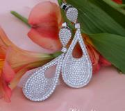 Stately Pear Shape Danling Earrings with Diamonds image