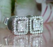 Beautiful Diamond Earrings (Baguette and Brilliant Cut) image
