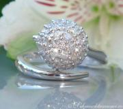 Attractive Pave Ball Diamond Ring image