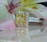 Exquisiter gelbe Diamanten Ring mit Brillanten image