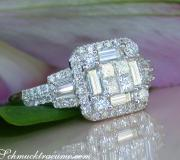 Edler Brillanten Ring mit Princess und Baguette Diamanten image
