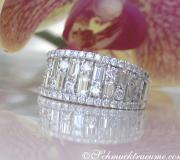 Erstklassiger Brillanten Band Ring mit Baguette Diamanten image