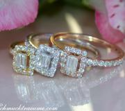 Drei bezaubernde Brillanten & Diamanten Ringe (stacking rings) image