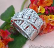 Tremendous Crossover Diamond Ring with Baguette Diamonds image