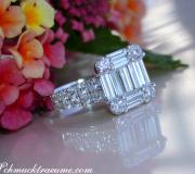 Tremendous Diamond Ring with extra long Baguette Diamonds image