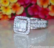 Exquisite Diamond Engagement Ring with Stackable Band image