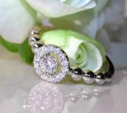 Delicate Diamond Ring (Ball Style) image
