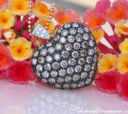 Beautiful Brown Diamond Heart Pendant incl. Chain image