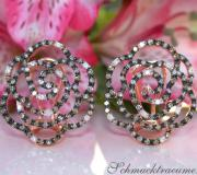 Picture Perfect Rose Earrings with Natural Brown Diamonds image