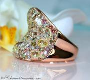 Handsome ring with diamonds & diamonds in natural tones image
