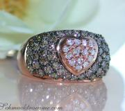 Timeless Heart Ring with Natural Brown & White Diamonds image