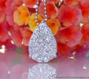 Picture Perfect Diamond Pear Pendant with Princess Diamonds image