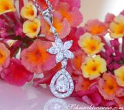 Exquisite Diamond Pear Pendant with Marquise Diamonds image