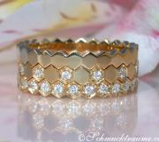 Drei attraktive Diamanten Ringe (Stacking Rings) image