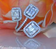 Unusual Diamond Ring with Baguette Diamonds image