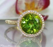 Interessanter Peridot Brillanten Ring image