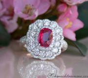 Magnificent Ruby Ring with Diamonds image