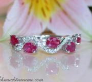 Delicate Ruby Ring with Diamonds image