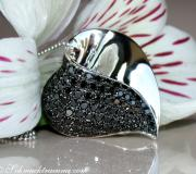 Fancy Black Diamond Heart Pendant image