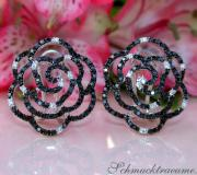 Picture Perfect Rose Earrings with Black Diamonds image