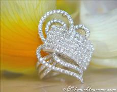 Princess Diamanten Ring mit Brillanten