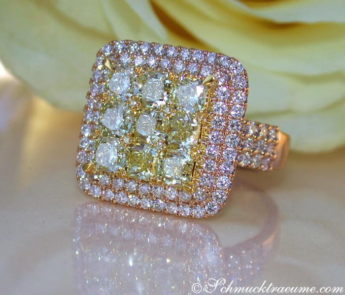 exquisiter gelbe diamanten ring mit brillanten juwelier. Black Bedroom Furniture Sets. Home Design Ideas
