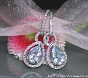 Convertible aquamarine drop earrings diamonds image