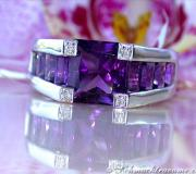 Extravaganter Amethyst Ring mit Diamanten image