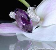 Stately Amethyst Diamond Ring image