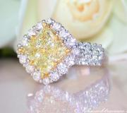 Finest yellow diamond ring with white diamonds image