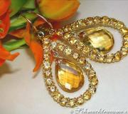 Gorgeous Citrine Dangling Earrings image