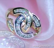 Brillanten Ring im Doppel - C - Design image